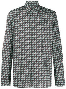 Prada geometric-print shirt - Green