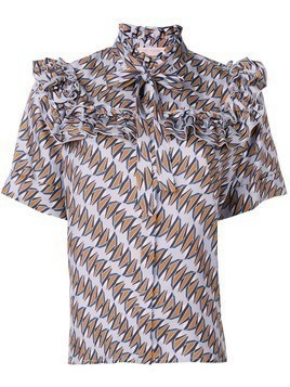 Dice Kayek geometric print shirt - Blue