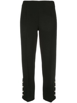 Lela Rose pearl cuff trousers - Black