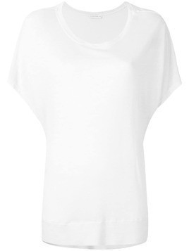 Fine Edge short-sleeve flared top - Neutrals