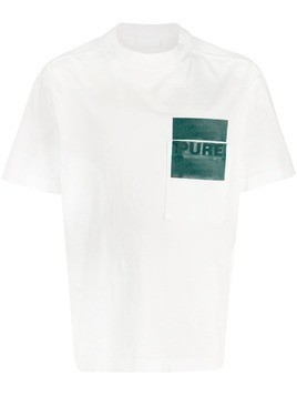 Haikure printed cotton T-shirt - White