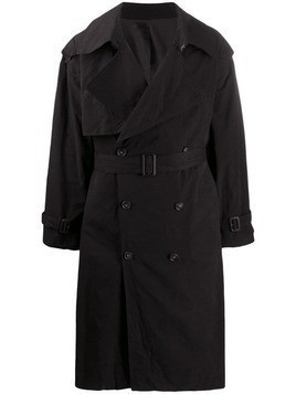 D.Gnak double breasted trench coat - Black