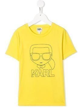 Karl Lagerfeld Kids Karl outline T-shirt - Yellow
