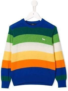 Harmont & Blaine Junior striped knitted jumper - Blue