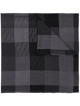 Fendi tonal FF check shawl - Black