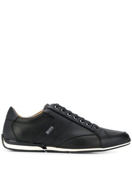 Boss Hugo Boss logo print sneakers - Black
