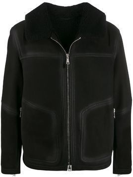 Drome zip-up fadded-effect jacket - Black