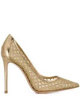 Gianvito Rossi mesh panel pumps - Gold