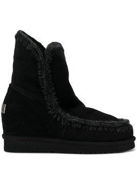 Mou knitted detail boots - Black