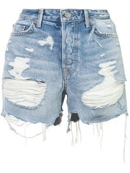 Grlfrnd ripped shorts - Blue