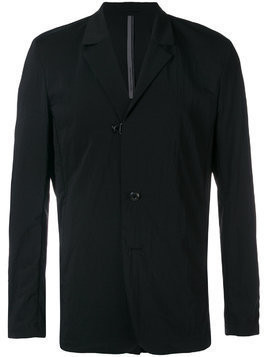 Attachment single-breasted blazer - Black