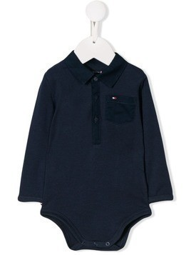 Tommy Hilfiger Junior logo polo shirt bodysuit - Blue