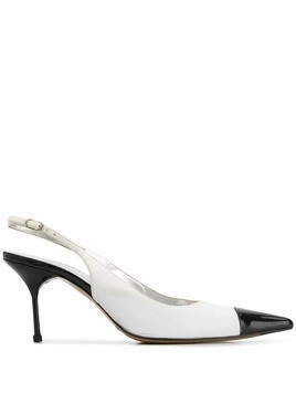 Dolce & Gabbana Pre-Owned 2000's two-tone slingback pumps - White