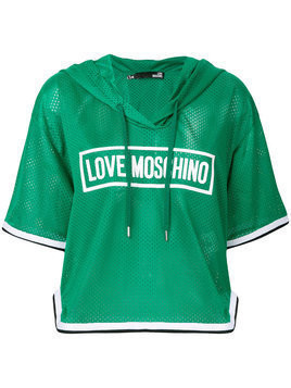 Love Moschino hooded T-shirt - Green
