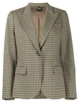 Aspesi checked blazer - Grey