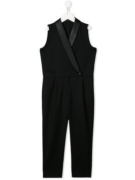Stella McCartney Kids tuxedo-style jumpsuit - Black