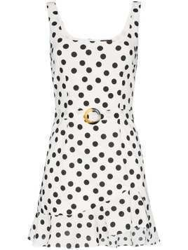 De La Vali Christabel polka-dot cotton dress - White