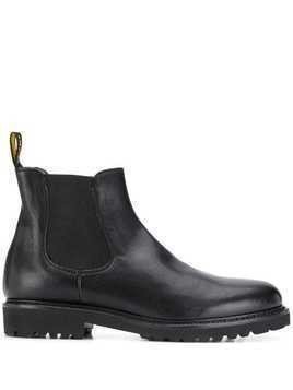 Doucal's elasticated chelsea boots - Black