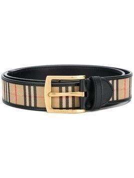 Burberry checked belt - Black