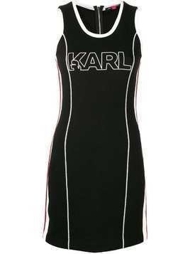 Karl Lagerfeld Karl X Kaia Jersey Dress - Black