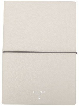 Serapian logo print notebook - White