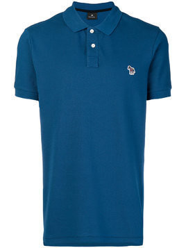 Ps By Paul Smith zebra logo polo shirt - Blue