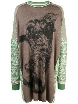 Bernhard Willhelm Cat oversized sweater - Green