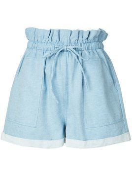 Callipygian paperbag waist shorts - Blue