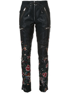 Sacai floral embroidered track pants - Black