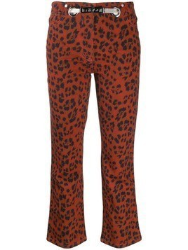 Miaou leopard Tommy trousers - Red