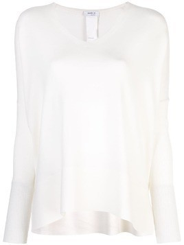 Akris Punto v-neck knitted top - White