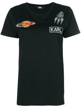 Karl Lagerfeld space Karl patch T-Shirt - Black
