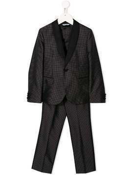 Dolce & Gabbana Kids polka dot print two-piece suit - Black