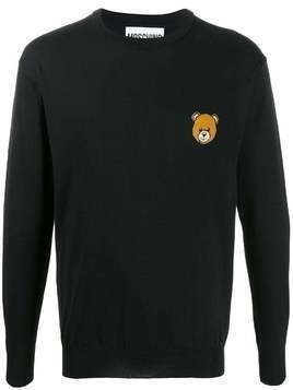 Moschino Teddy Bear intarsia crew-neck jumper - Black