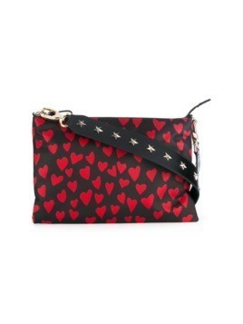 Red Valentino heart print crossbody bag - Black