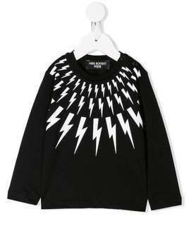 Neil Barrett Kids graphic sweatshirt - Black