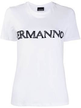 Ermanno Ermanno embroidered logo T-shirt - White