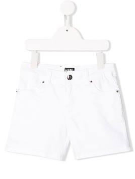 Karl Lagerfeld Kids slim-fit denim shorts - White