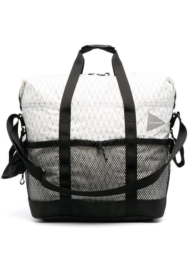 and Wander large diamond-print holdall - White