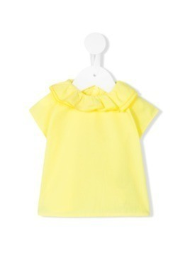 Knot Pierrot collar blouse - Yellow&Orange