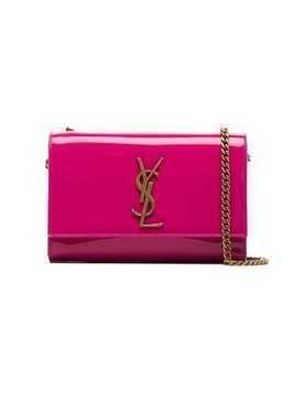Saint Laurent Patent leather kate monogram cross body Bag - Pink & Purple