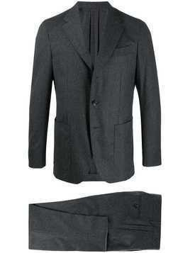 Caruso two piece slim-fit suit - Grey