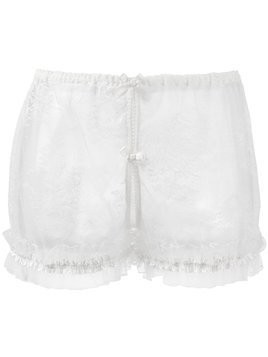 Folies By Renaud Ouvert French lace knickers - White