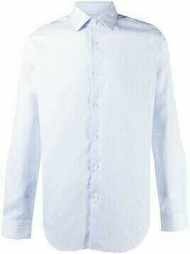 Corneliani striped linen-cotton blend shirt - White