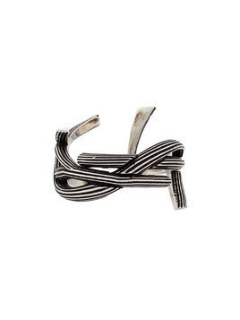 Saint Laurent interlaced monogram ring - Silver