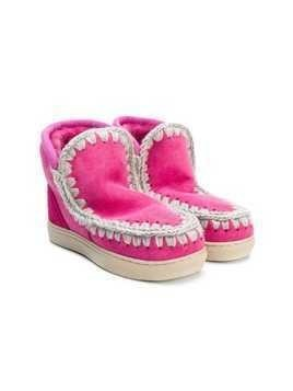 Mou Kids Eskimo boots - Pink & Purple
