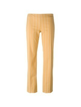 Romeo Gigli Pre-Owned striped trousers - Yellow
