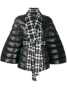 Mackage batwing houndstooth down jacket - Black