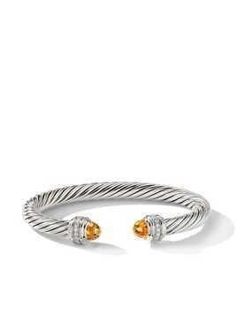 David Yurman Cable citrine and diamond cuff - SSACIDI