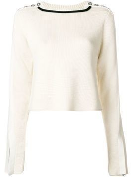 3.1 Phillip Lim button-detailed sweater - White